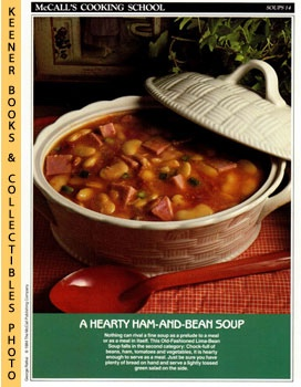 McCall's Cooking School Recipe Card: Soups 14 - Old-Fashioned Lima-Bean Soup (Replacement McCall'...