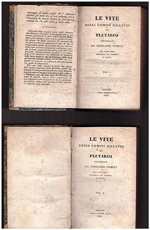 LE VITE DEGLI UOMINI ILLUSTRI DI PLUTARCO: Plutarco