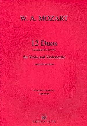 12 Duos KV487für Viola und Violoncello : Wolfgang Amadeus Mozart