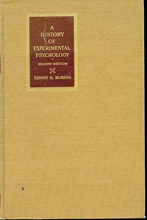 A History of Experimental Psychology: Edwin G. Boring