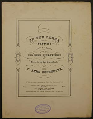 In der Ferne. Gedicht von Frl. M. v. François in Musik