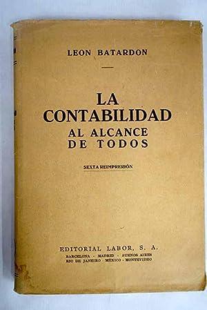 La Contabilidad al alcance de todos: Batardon, Léon