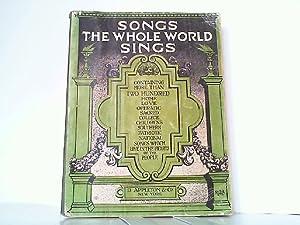 Songs the Whole World Sings.: Wier, Albert: