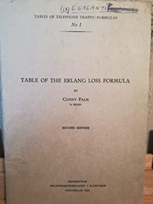 Table of the Erlang loss formula: Conny Palm