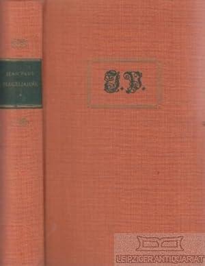 Flegeljahre. Eine Biographie.: Jean Paul (eig.