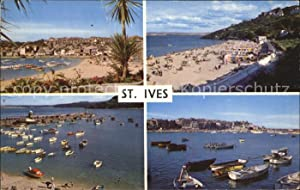 Postkarte Carte Postale St Ives Cornwall Beach and Harbour Porthminster Beach