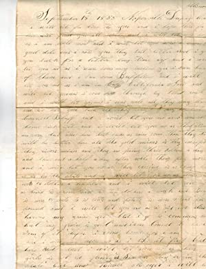 1855 and 1856 ALS from California to: California, Gold Rush
