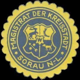 Siegelmarke Magistrat der Kreisstadt Sorau