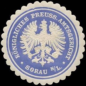 Siegelmarke K.Pr. Amtsgericht Sorau Nieder-Lausitz