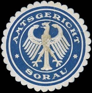Siegelmarke Amtsgericht Sorau Nieder-Lausitz