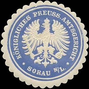 Siegelmarke K.Pr. Amtsgericht Sorau/Nieder-Lausitz