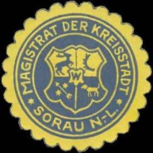 Siegelmarke Magistrat der Kreisstadt Sorau/Lausitz