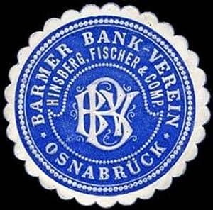 Siegelmarke Barmer Bank Verein Hinsberg, Fischer &