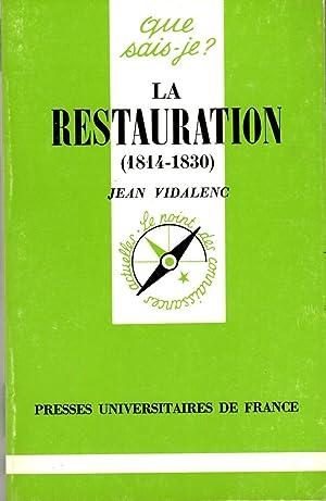 La restauration, 1814-1830: Jean Vidalenc