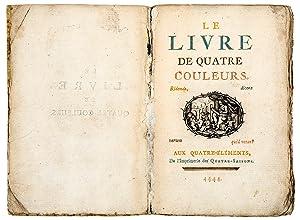 Le livre de quatre couleurs. Aux Quatre-éléments,: CARACCIOLI, Louis-Antoine (1721-1803)