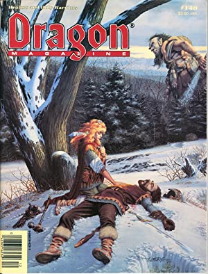 Dragon Magazine Issue #140 Vol. XIII, No.: Cook, Mike (Publisher)