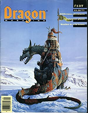 Dragon Magazine Issue #137 Vol. XIII, No.: Cook, Mike (Publisher)