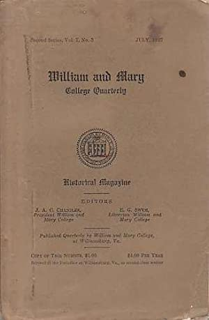 William and Mary College Quarterly, vol 7,: Chandler, J.A.C.