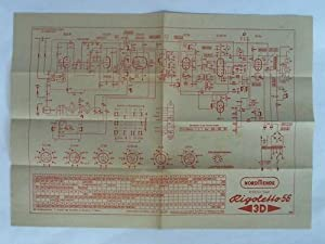 Rigoletto 56, 3 D. 6/10 Kreis-Super. Schaltplan: Nordmende Rundfunk KG,