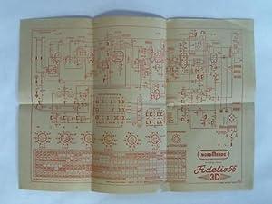 Fidelio 56, 3 D. 8/11 Kreis-Super. Schaltplan: Nordmende Rundfunk KG,