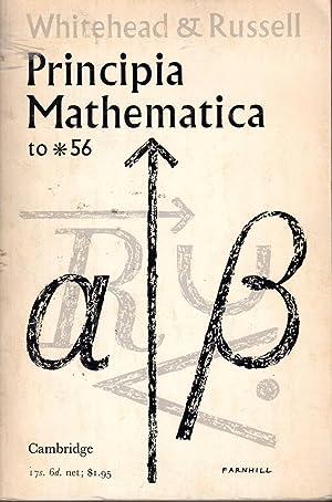 Principia mathematica to *56. (An abridged text: Whitehead, A. N.