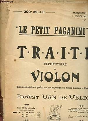 """Le petit Paganini"""" : Traité élémentaire de: Van De Velde"""