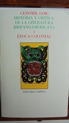 HISTORIA Y CRÍTICA DE LA LITERATURA HISPANOAMERICANA.: CEDOMIL GOIC