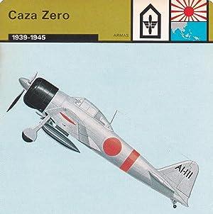 FICHA ARMAS: CAZA ZERO. 1939-1945: Varios
