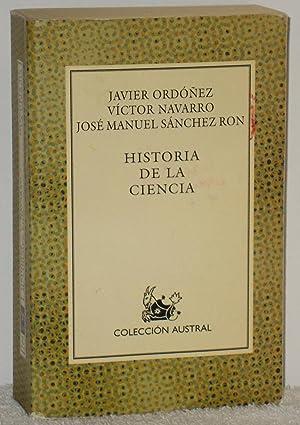 Historia de la ciencia: Ordóñez, Javier -