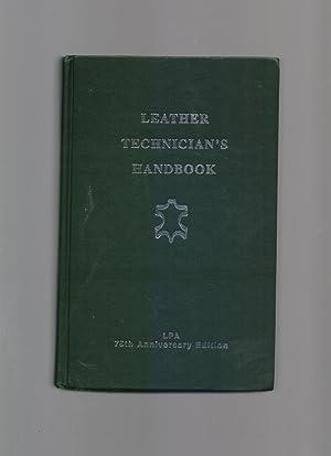 Leather Technician's Handbook: J H Sharphouse