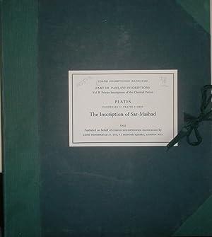 Corpus Inscriptionum Iranicarum: PART III: Pahlavi inscriptions: Henning, W.B.: