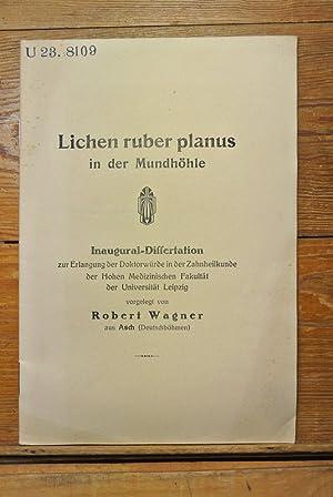 Lichen ruber planus in der Mundhöhle. U.: Wagner, Robert,