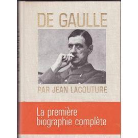 DE GAULLE: jean lacouture