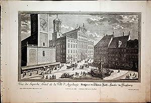 AUGSBURG, Rathaus: Rathaus Gesamtansicht Titel: Prospect des: Kleiner, Salomon: