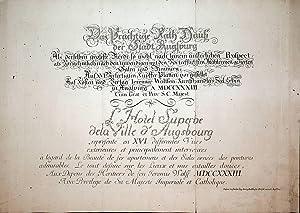 AUGSBURG, Rathaus: Titelblatt von Das Prächtige Rath: Kleiner, Salomon: