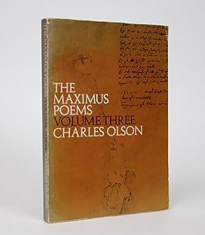 Imagen del vendedor de The Maximus Poems, Volume Three a la venta por Minotavros Books, ABAC/ILAB