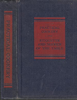 Practical Cookery and Etiquette and Service of: Department of Food