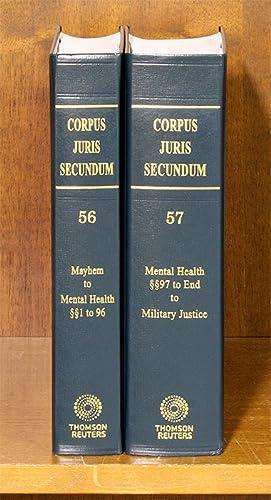 Corpus Juris Secundum. Vols. 56 & 57: Thomson Reuters