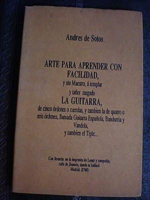 Arte para aprender con facilidad, y sin: Andrés de Sotos