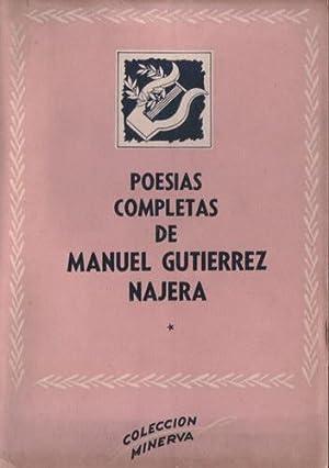 Poesías completas (2 tomos): Gutiérrez Nájera, Manuel