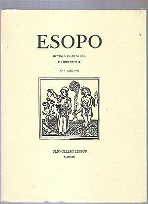 ESOPO. REVISTA TRIMESTRAL DE BIBLIOFILIA. Nº 3: VARIOS