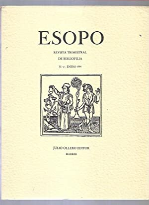 ESOPO. REVISTA TRIMESTRAL DE BIBLIOFILIA. Nº 2: VARIOS