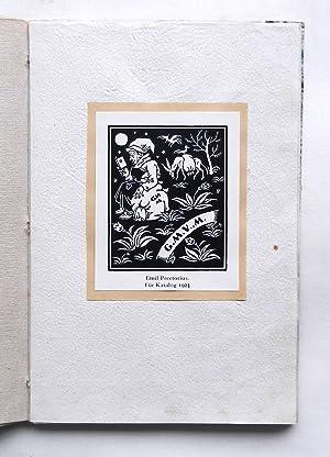 21 montierte Exlibris und Signets von Emil: Preetorius, Emil