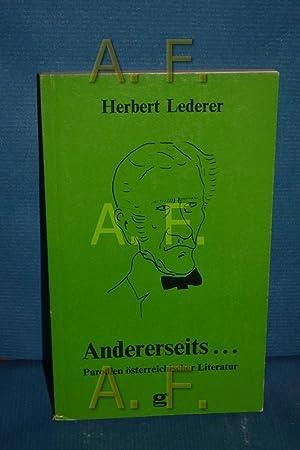 Andererseits . : Parodien österr. Literatur: Lederer, Herbert: