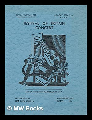 Festival of Britain Concert (Programme) - Mon.: Royal Festival Hall