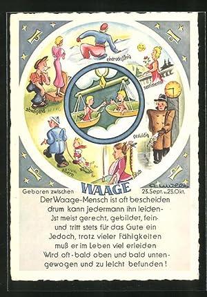 Ansichtskarte Sternzeichen Waage Zvab