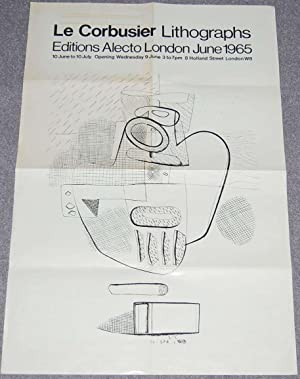Le Corbusier Lithographs Editions Alecto London June 1965 [poster]