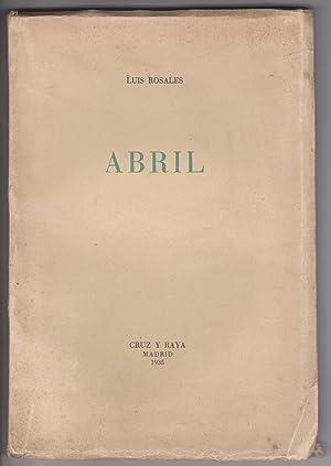 Imagen del vendedor de Abril. a la venta por LIBRERIA SUR
