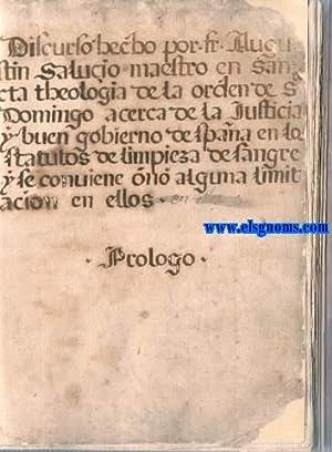 Discurso hecho por Fr. Augu/ stin Salucio: SALUCIO,Fr.Agustín (Jerez de