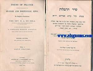 Forms of Prayer according to the custom: SOLA ,Rev.D.Abraham de